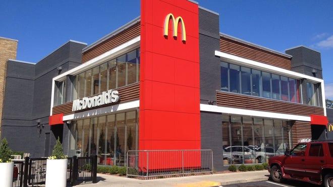 The exterior of a McDonald