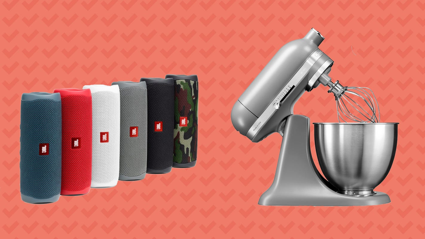 Score savings on KitchenAid stand mixers, JBL speakers, and more