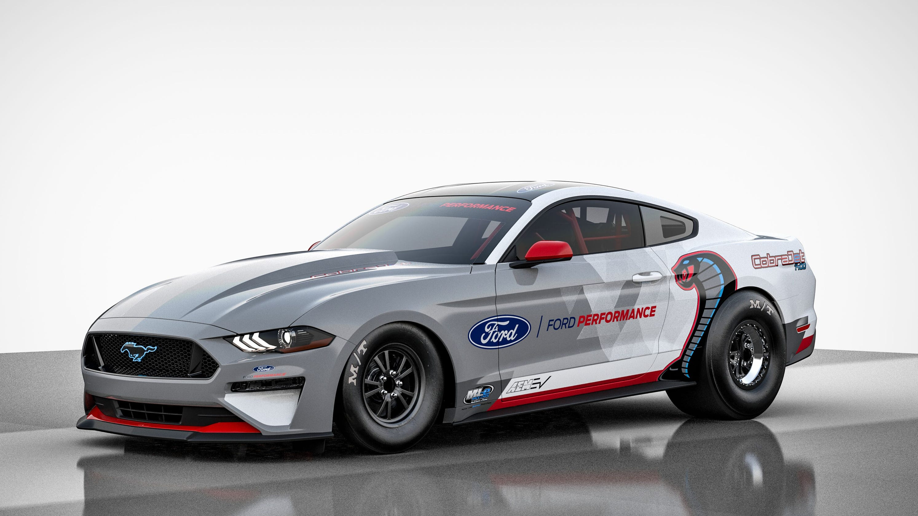 All-electric Ford Mustang Cobra Jet prototype race car hits 170 mph