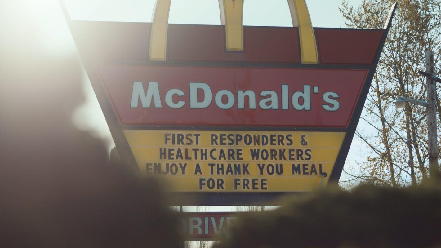 Coronavirus heroes get free 'Thank You' meals at McDonald's