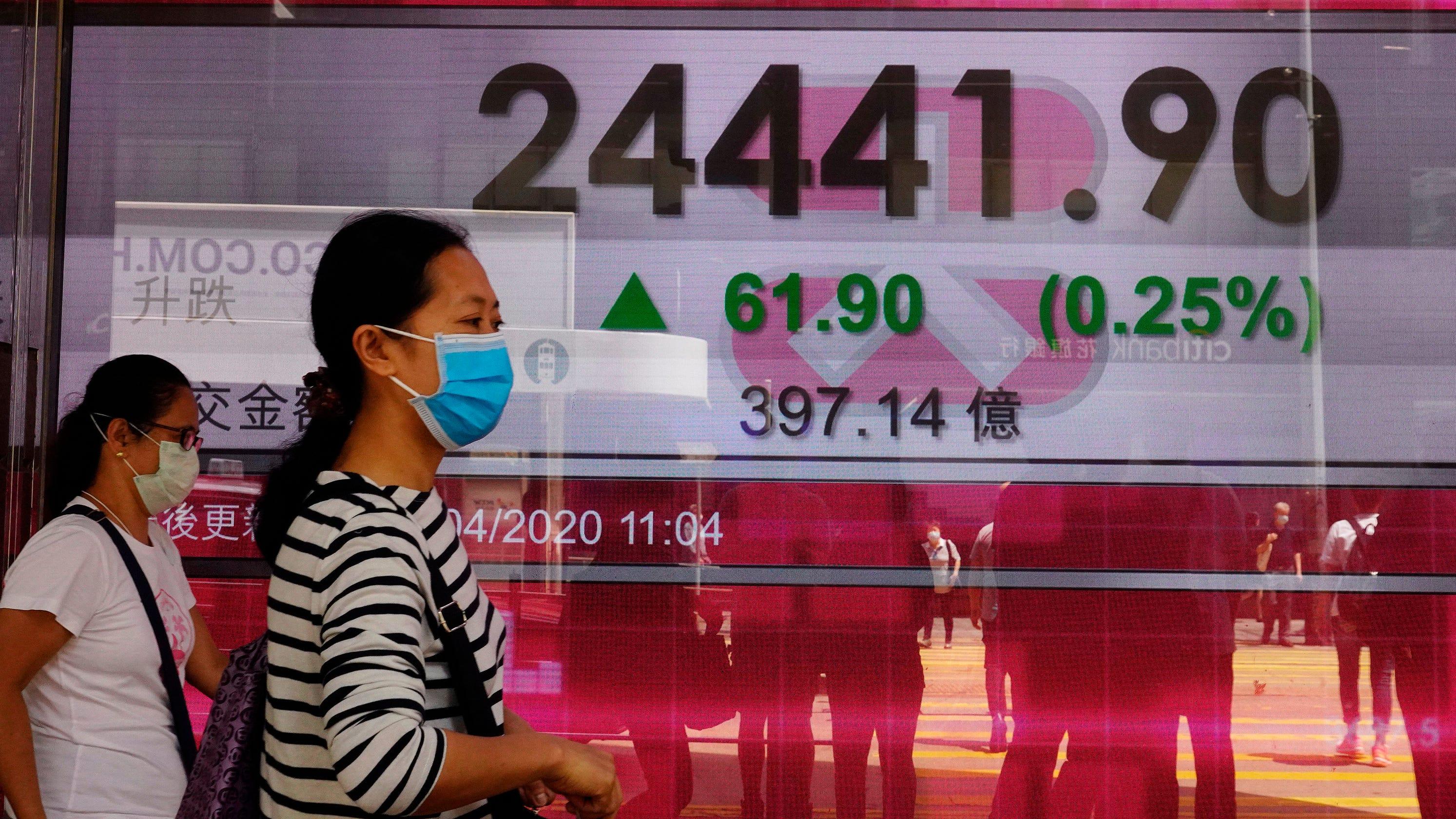 Oil prices drop below zero, sending Dow, stocks lower
