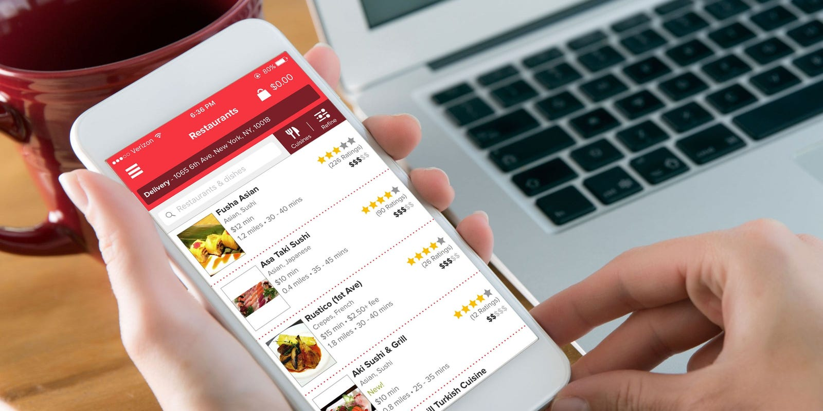 GrubHub shares surge off reports of acquisition offer by Uber