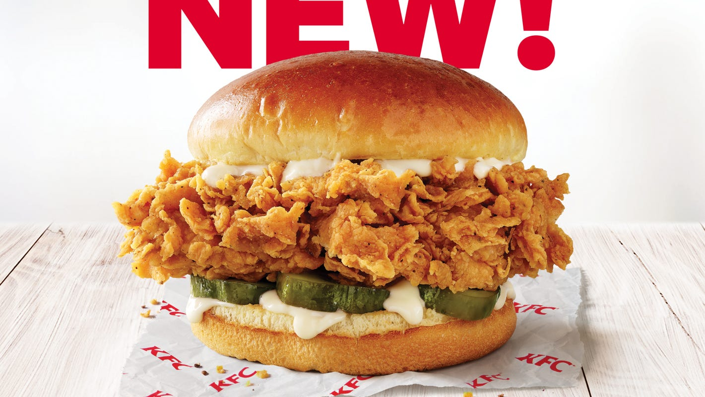 KFC tests a new chicken sandwich in Florida, offering a 20% larger filet