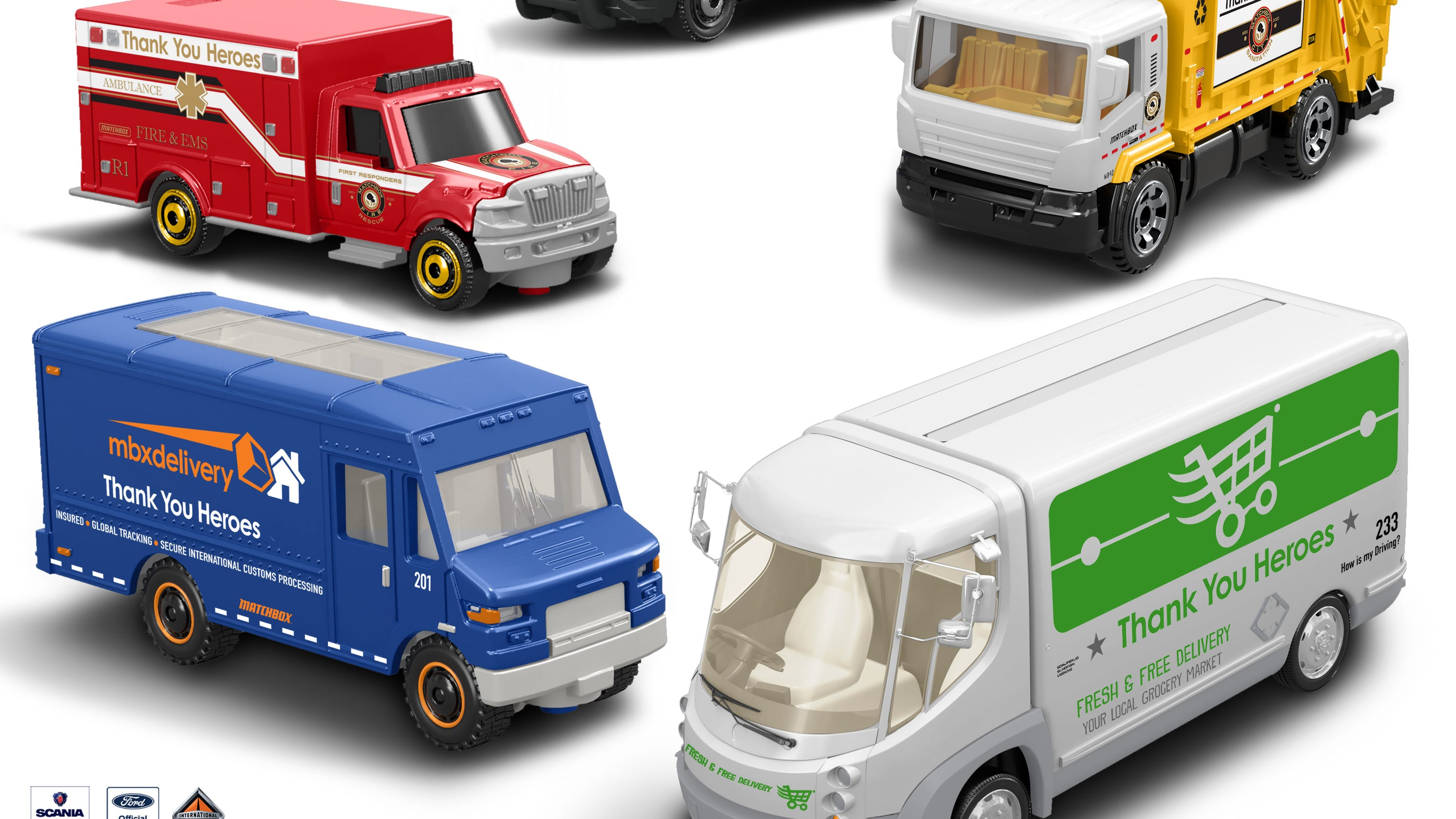 New additions from Mattel include Matchbox vehicles