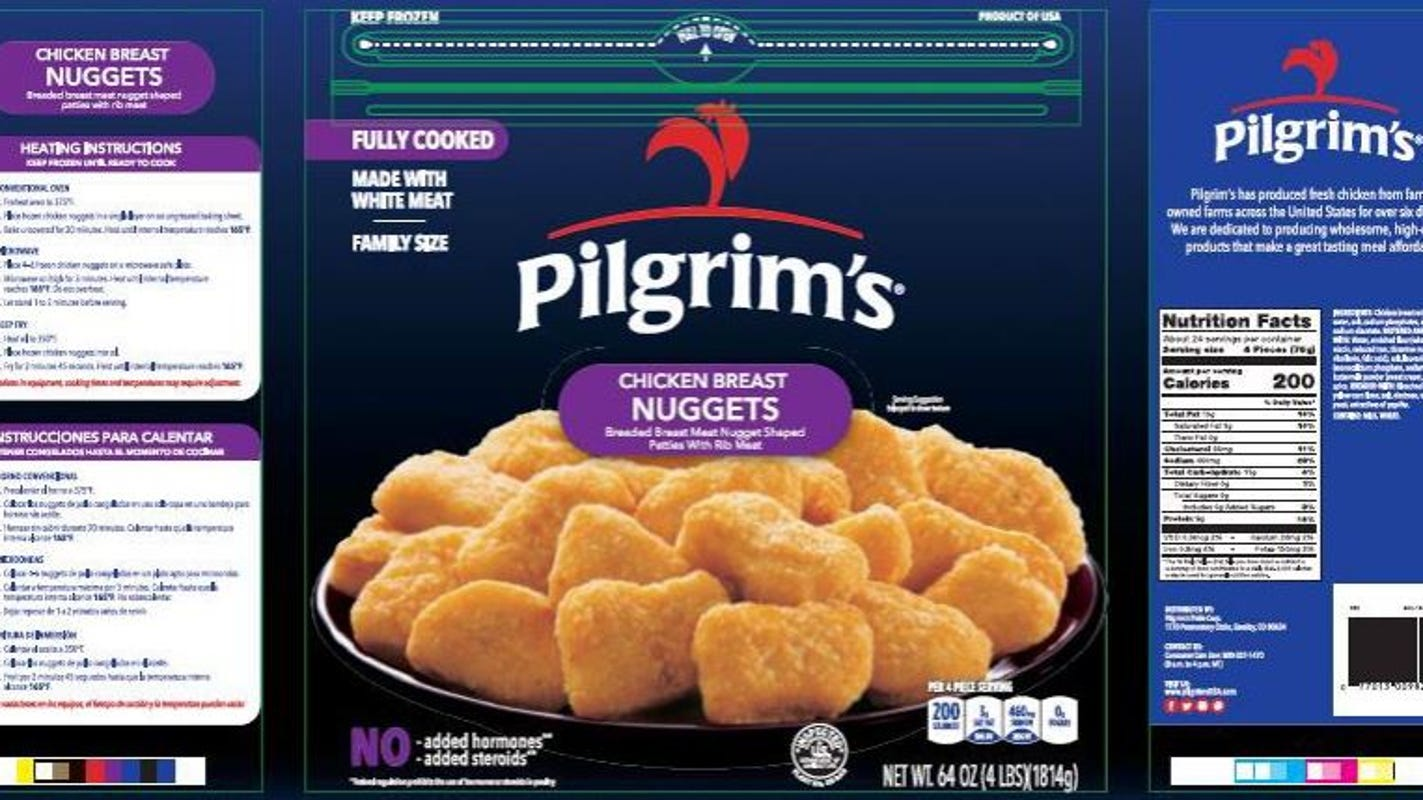 Nearly 60,000 pounds of nuggets recalled