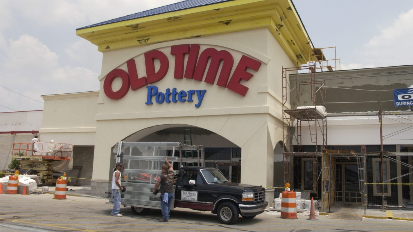 Old Time Pottery to file Chapter 11 bankruptcy, close stores due to COVID-19