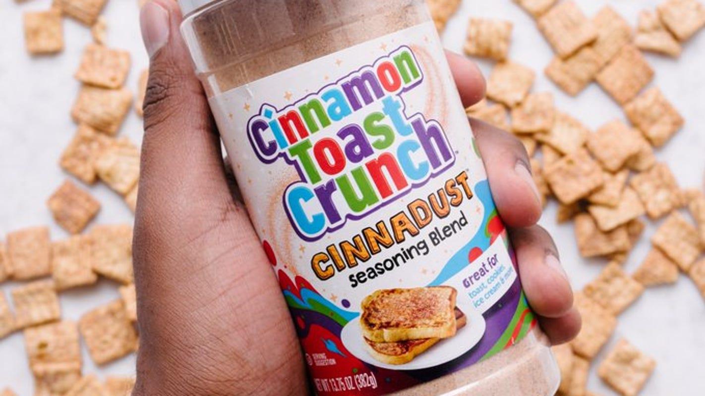 Cinnamon Toast Crunch releases 'Cinnadust' seasoning blend to sprinkle on your ice cream