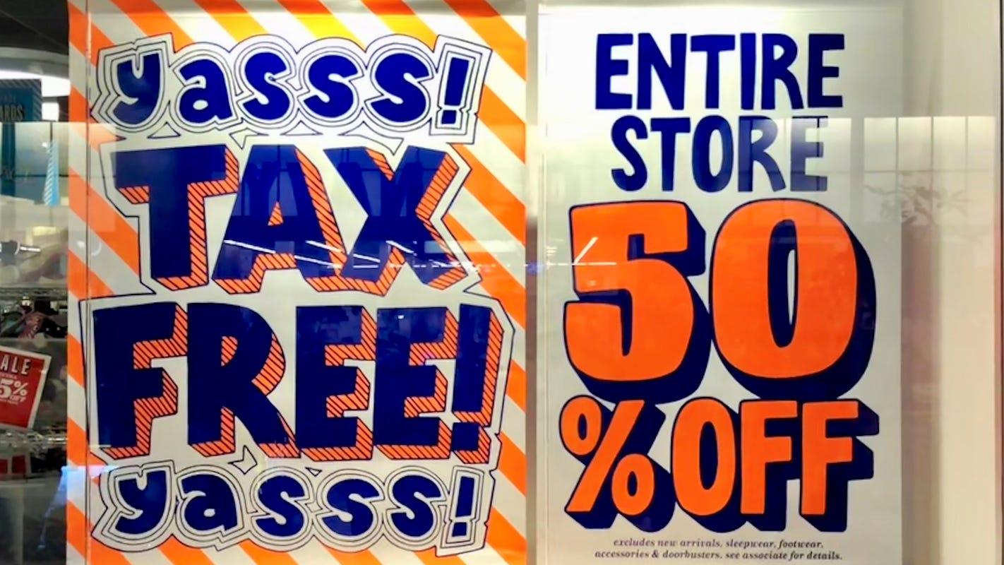 Florida, Texas, Virginia have tax holidays