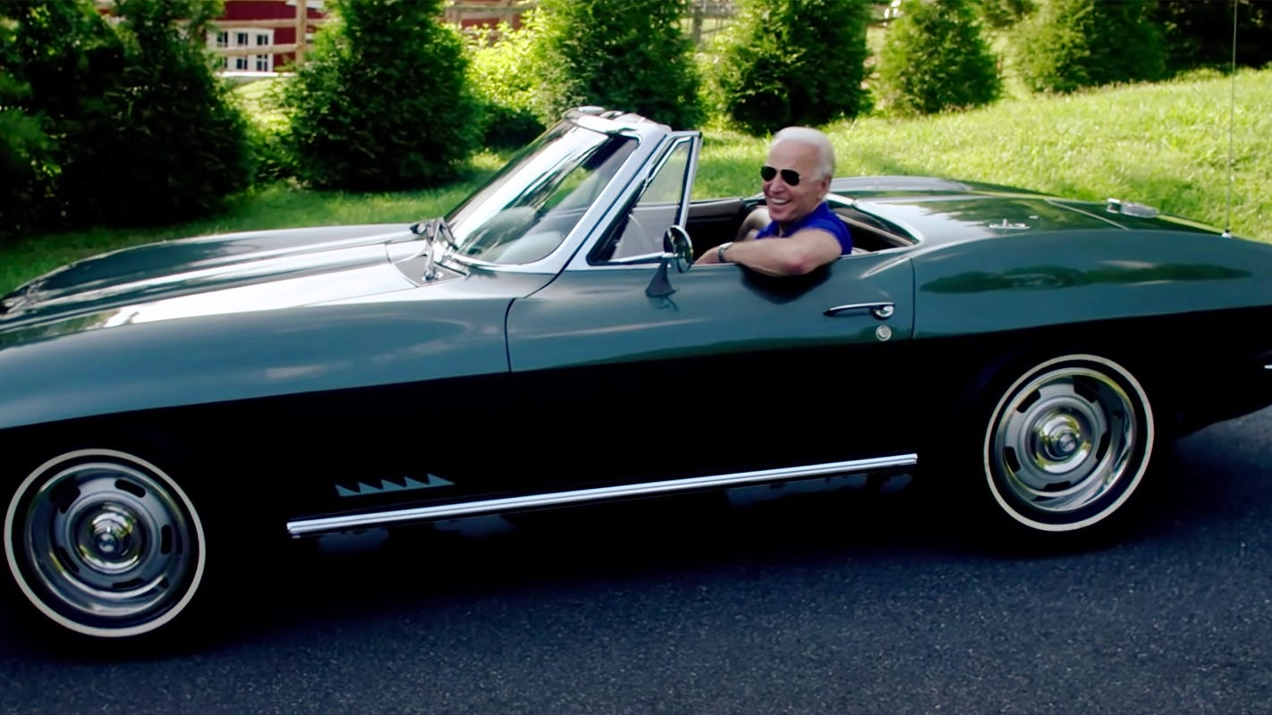 Joe Biden spills beans on GM's future electric Corvette in campaign ad