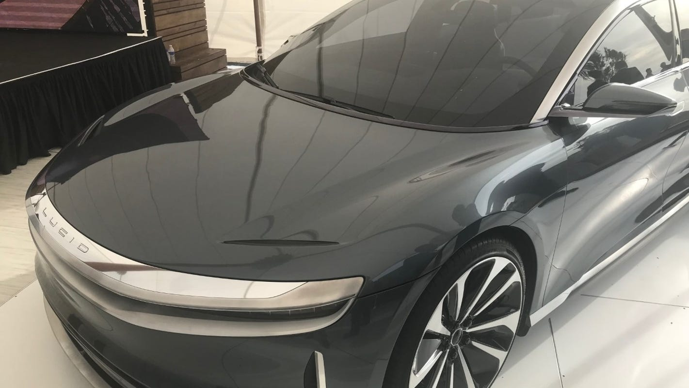Lucid Motors' electric car to get 500-plus miles on single charge