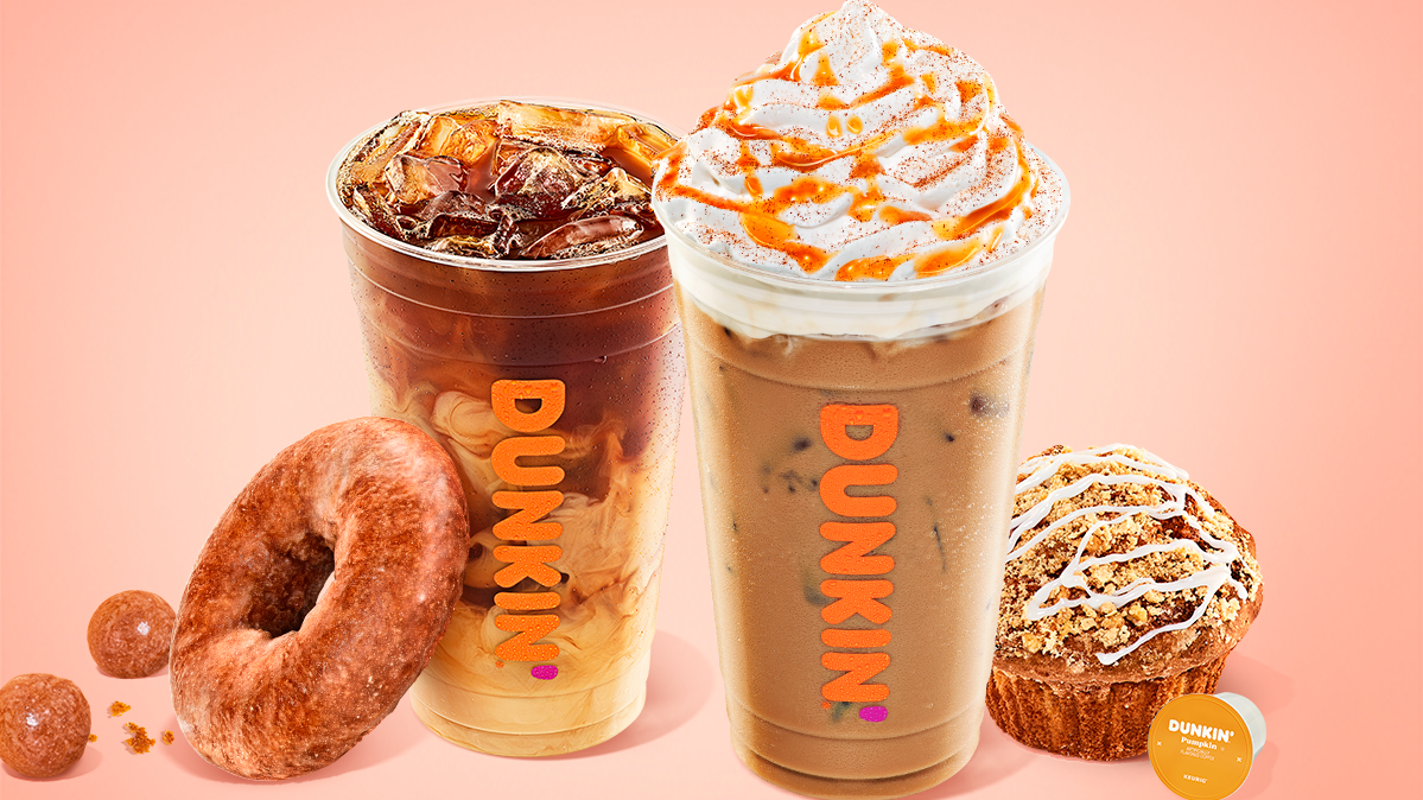 Pumpkin returns to Dunkin' Aug. 19 with new latte, snacks