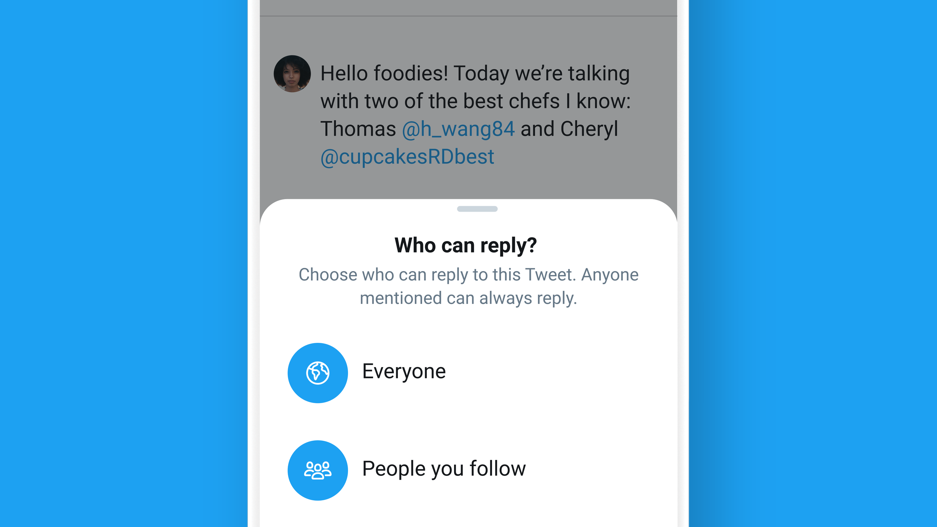 Twitter's new feature lets users limit who can reply to tweets