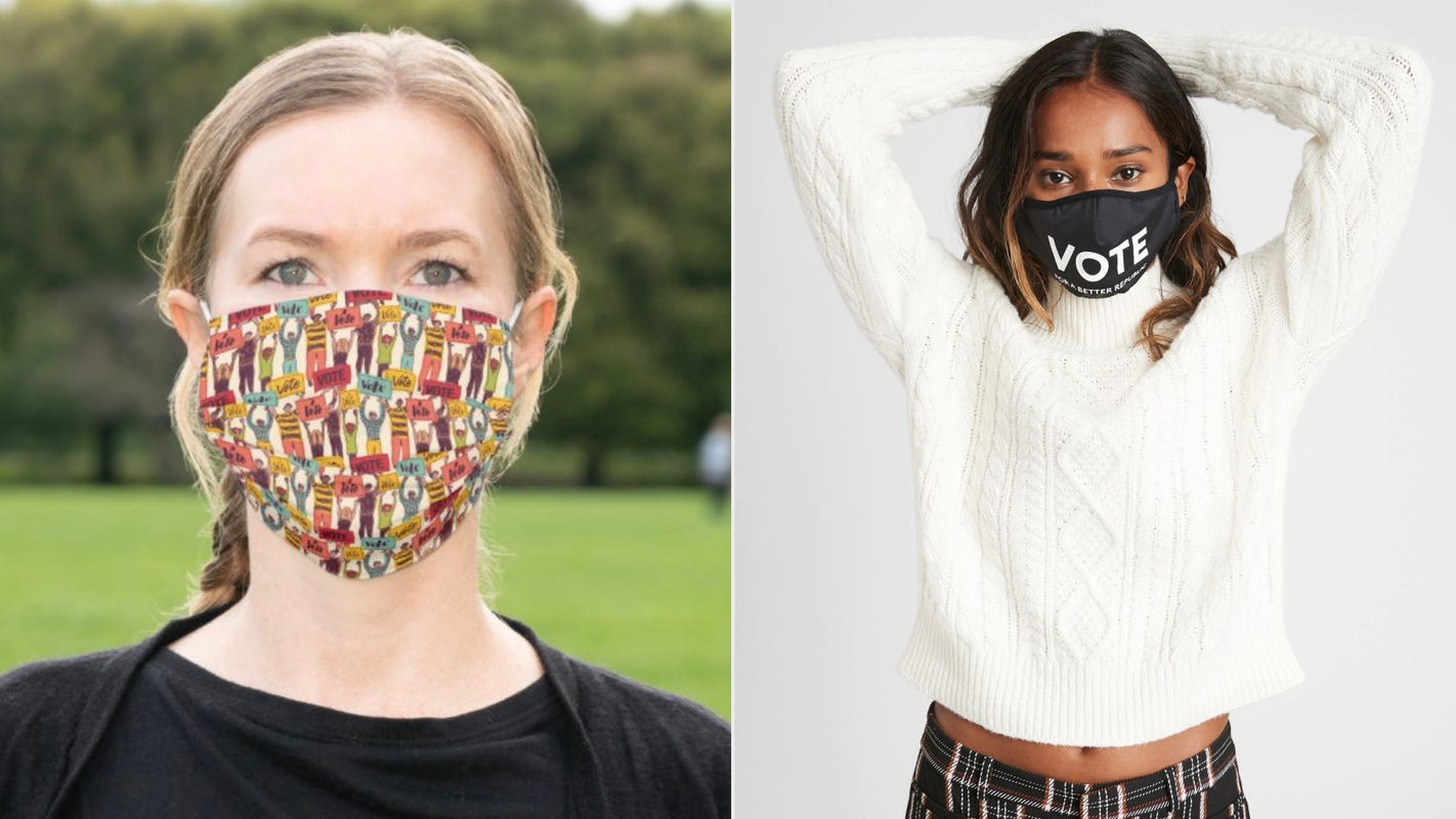 10 face masks you can wear to promote voting