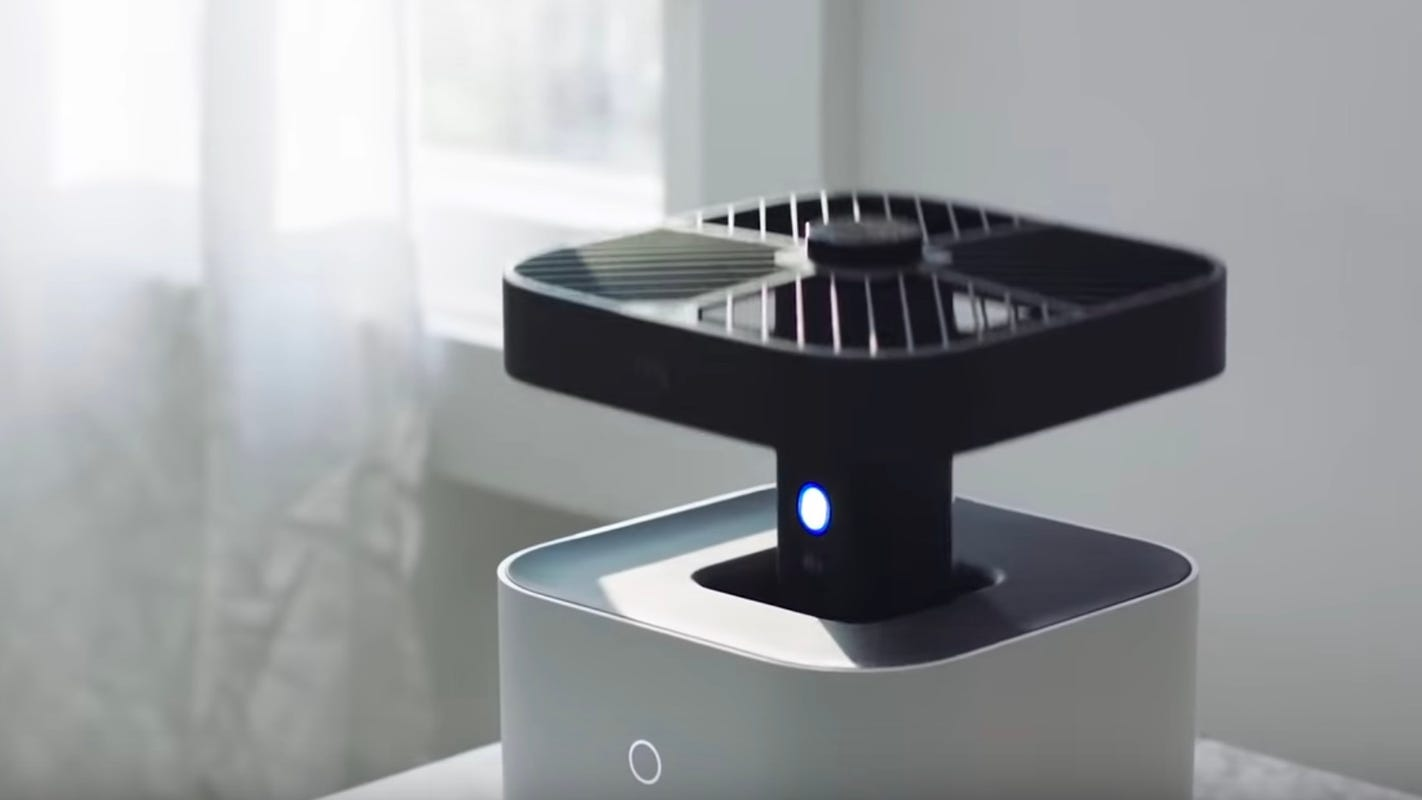 A security camera that flies around inside your house