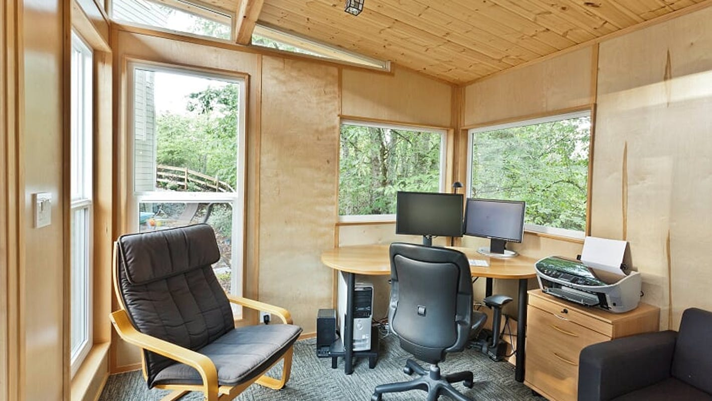 Americans turn backyard sheds into home offices as pandemic rages on