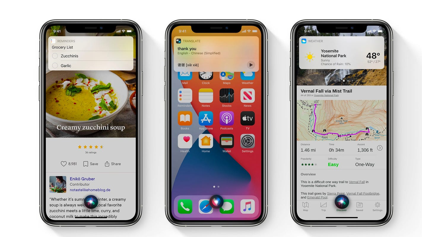 Apple says iOS 14 Siri has 20 times more facts than 3 years ago