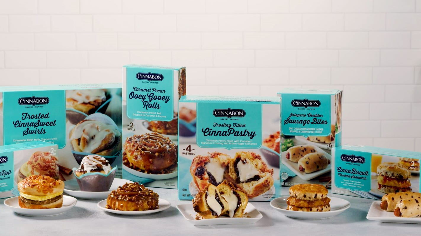 Cinnabon launches frozen breakfast line at Walmart, coming to Target