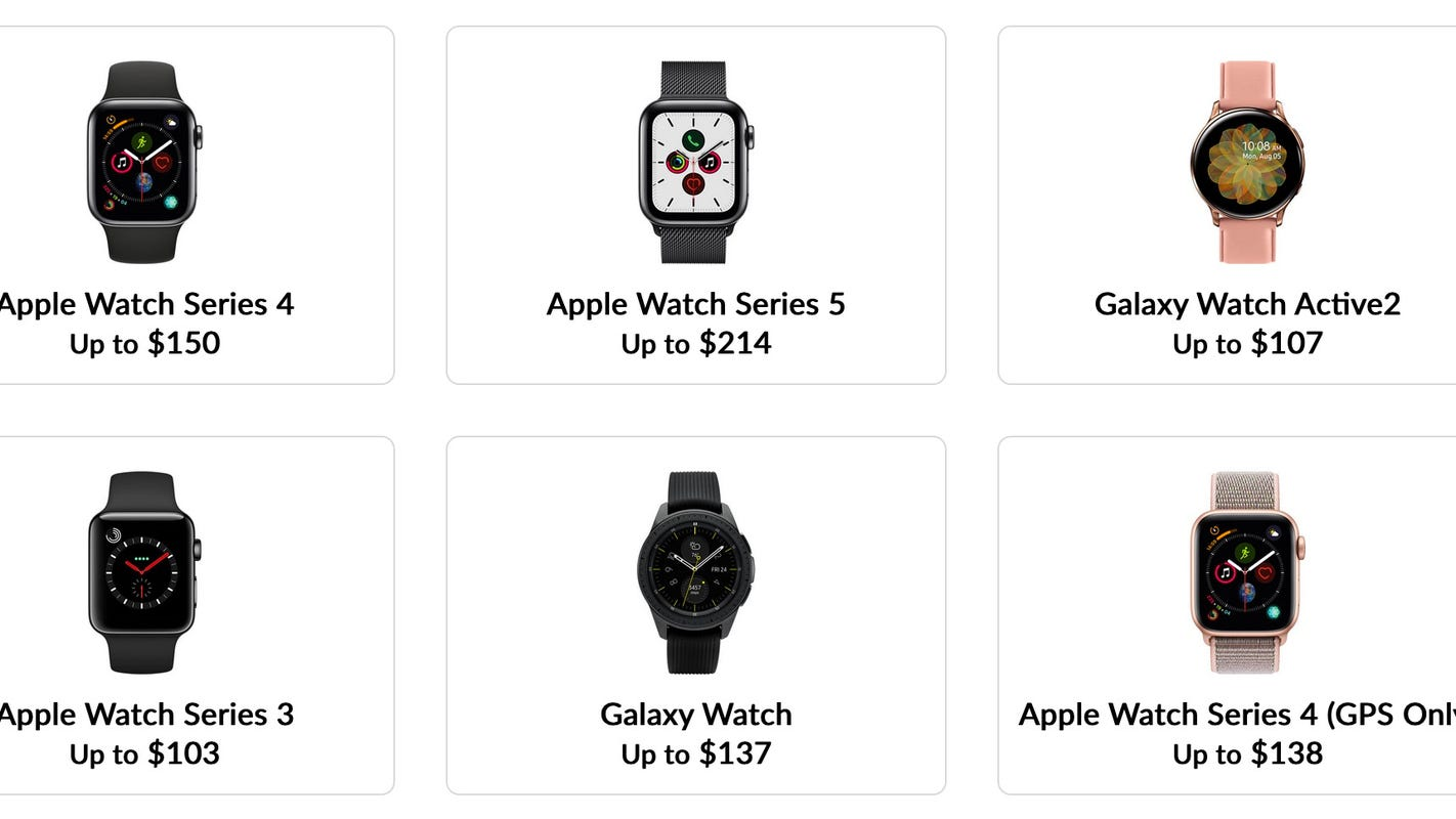 How to sell your old Apple Watch or Samsung Galaxy Watch and get paid