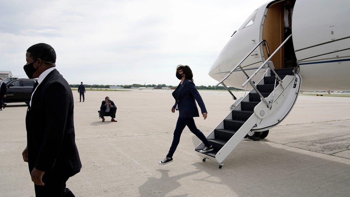 Kamala Harris and shoe choice: Democratic vice president candidate sports Converse, Timberland boots