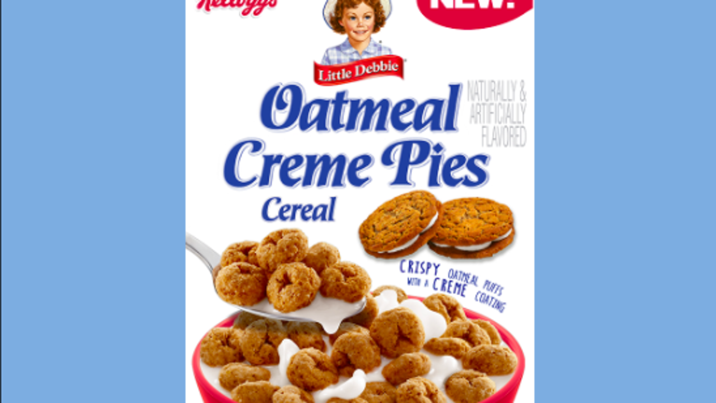 Little Debbie and Kelloggs are introducing Oatmeal Creme Pie Cereal