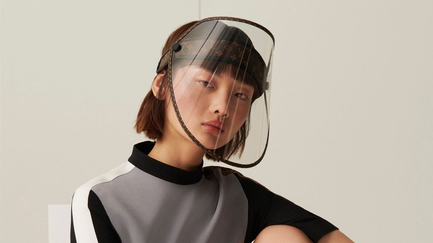 Louis Vuitton unveils full face shield with gold studs that reportedly will cost nearly $1,000