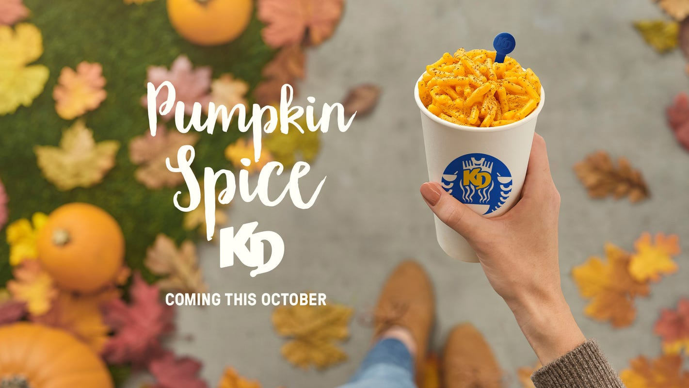 Pumpkin spice macaroni and cheese unveiled by Kraft Heinz