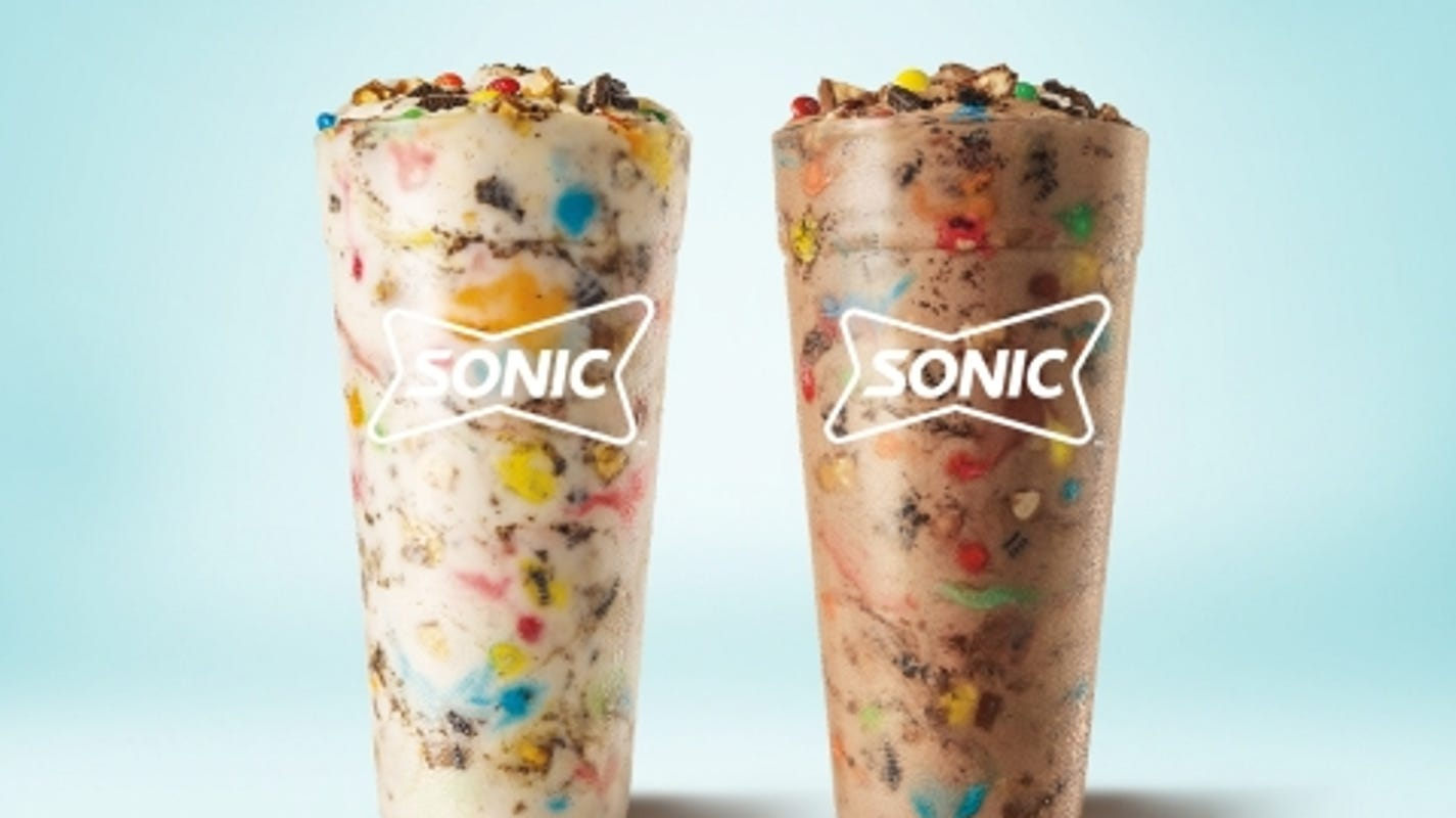 Sonic adds Halloween-inspired dessert drinks with Oreos, M&M's, and Snickers folded in