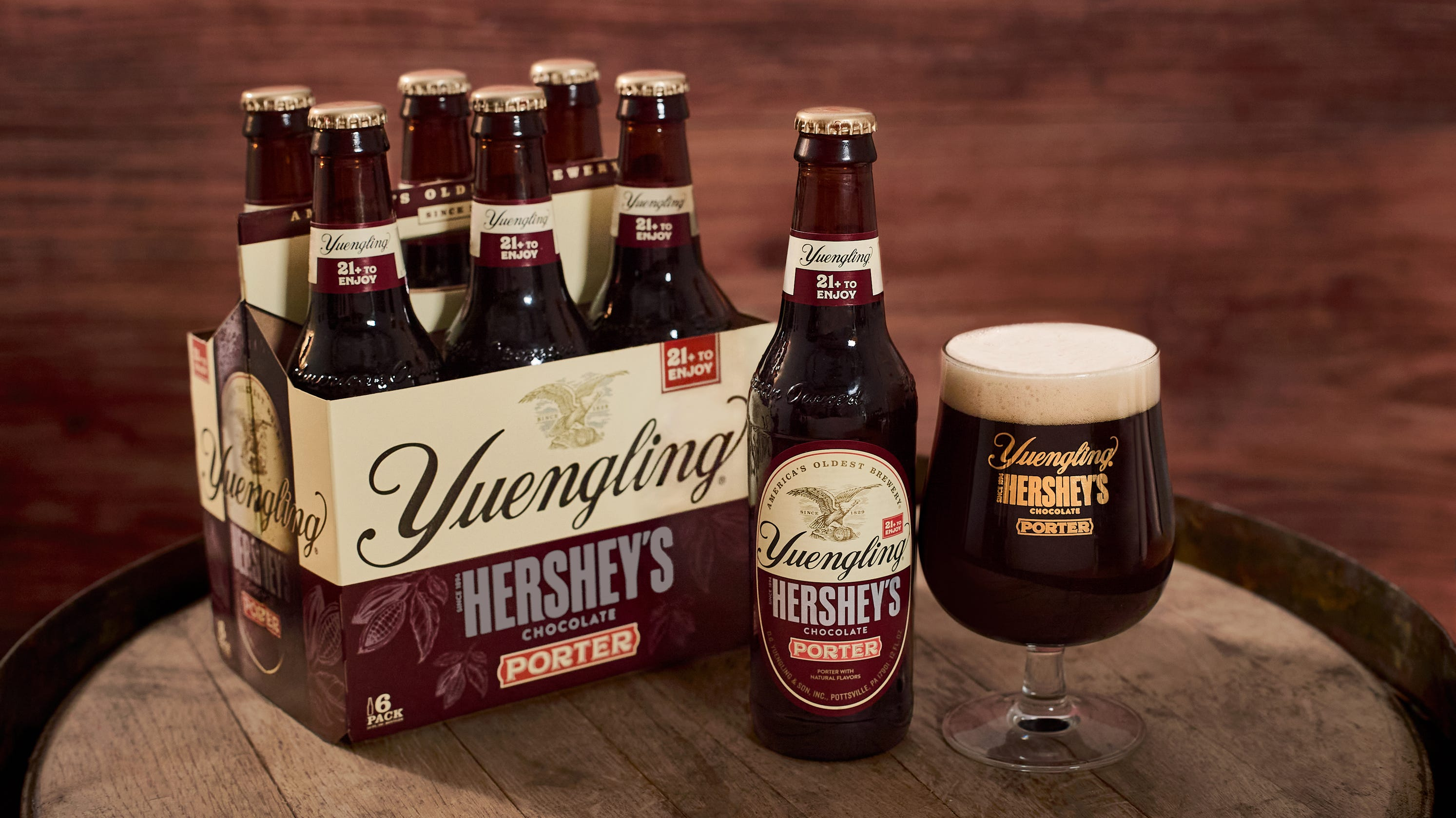 Hershey, Yuengling mix beer and chocolate a porter brew